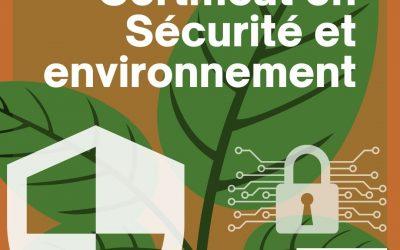 Certificat en Sécurité et Environnement