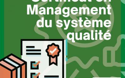 Certificat en Management du Système Qualité