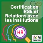Certificat en RSE et Relations avec Les Institutions