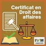 Certificat en Droit des Affaires