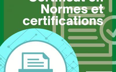 Certificat en Normes et Certifications