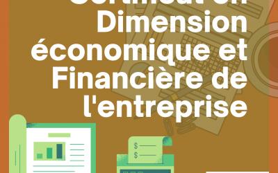 Certificat en Dimension Economique et Financière de l'Entreprise