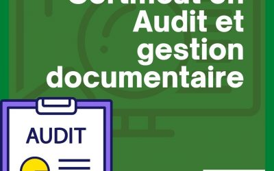 Certificat en Audit et gestion documentaire