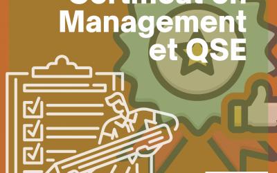 Certificat en Management et QSE