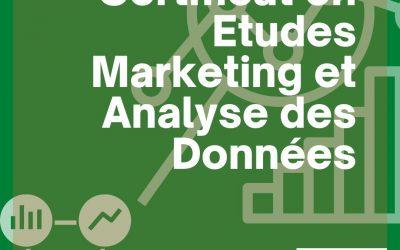 Certificat en Etudes Marketing et Analyse des Données