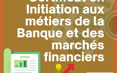 Certificat en Initiation aux métiers de la Banque et Des Marchés Financiers